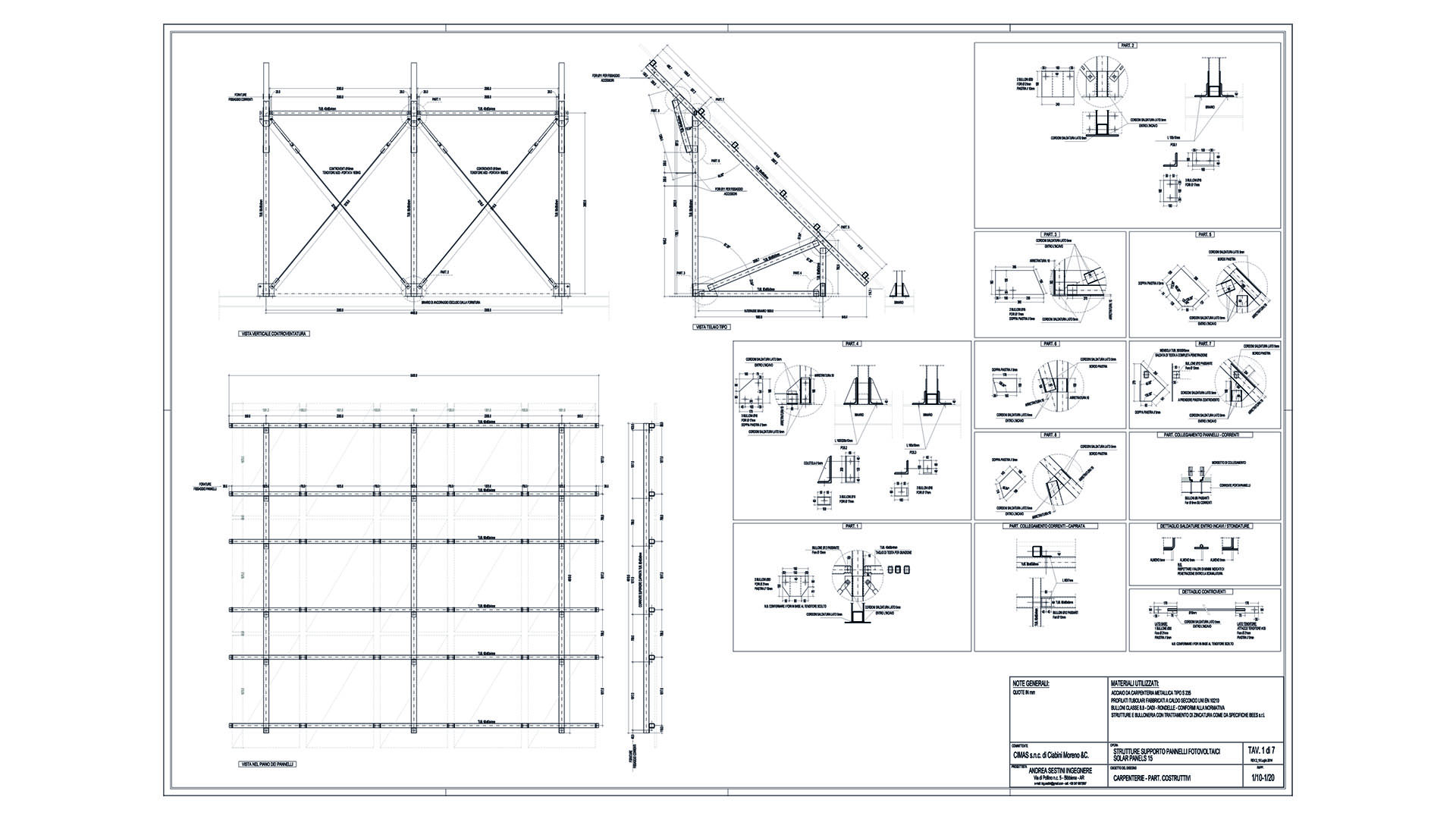 tavola per struttura per fotovoltaico